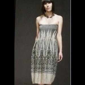 NWOT Anthropologie Lapis Strapless Smocked Dress
